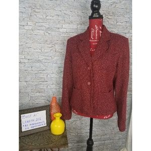 Outfit JP 2 Buttons Classic Tweed Jacket size 12